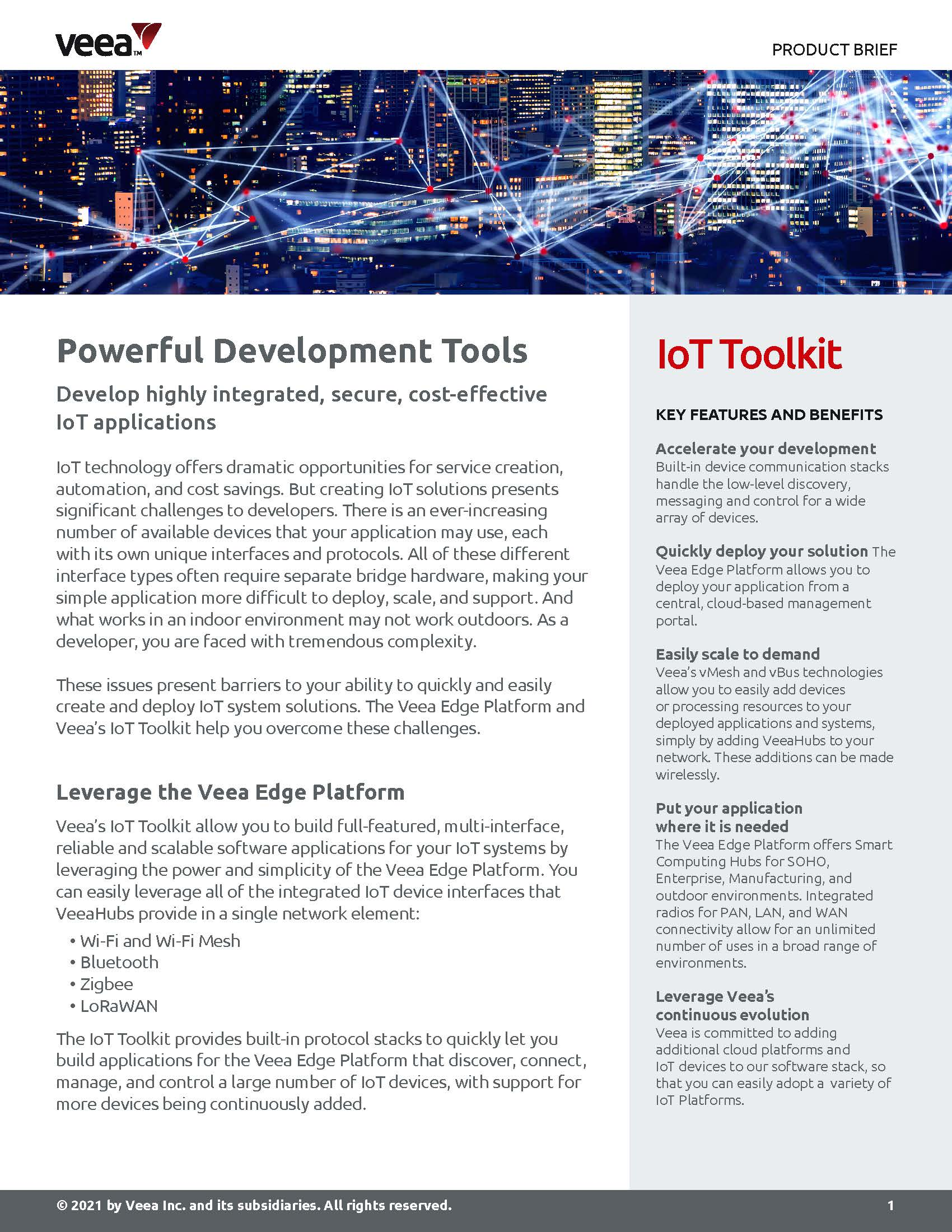 IoT Toolkit prod brief cover